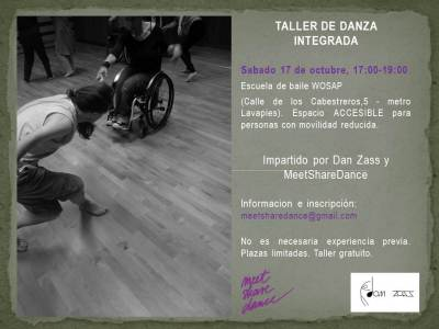taller danza integrada FLYER